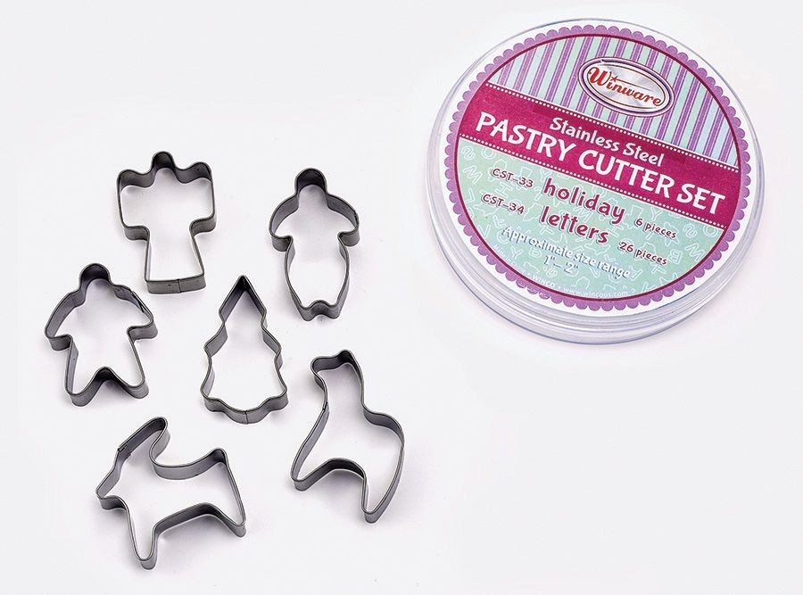 6-Piece Pastry Cutter Set (Holiday)