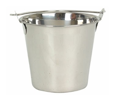 Thunder Group SLPAL006 Stainless Steel Utility Pail 6 Qt.
