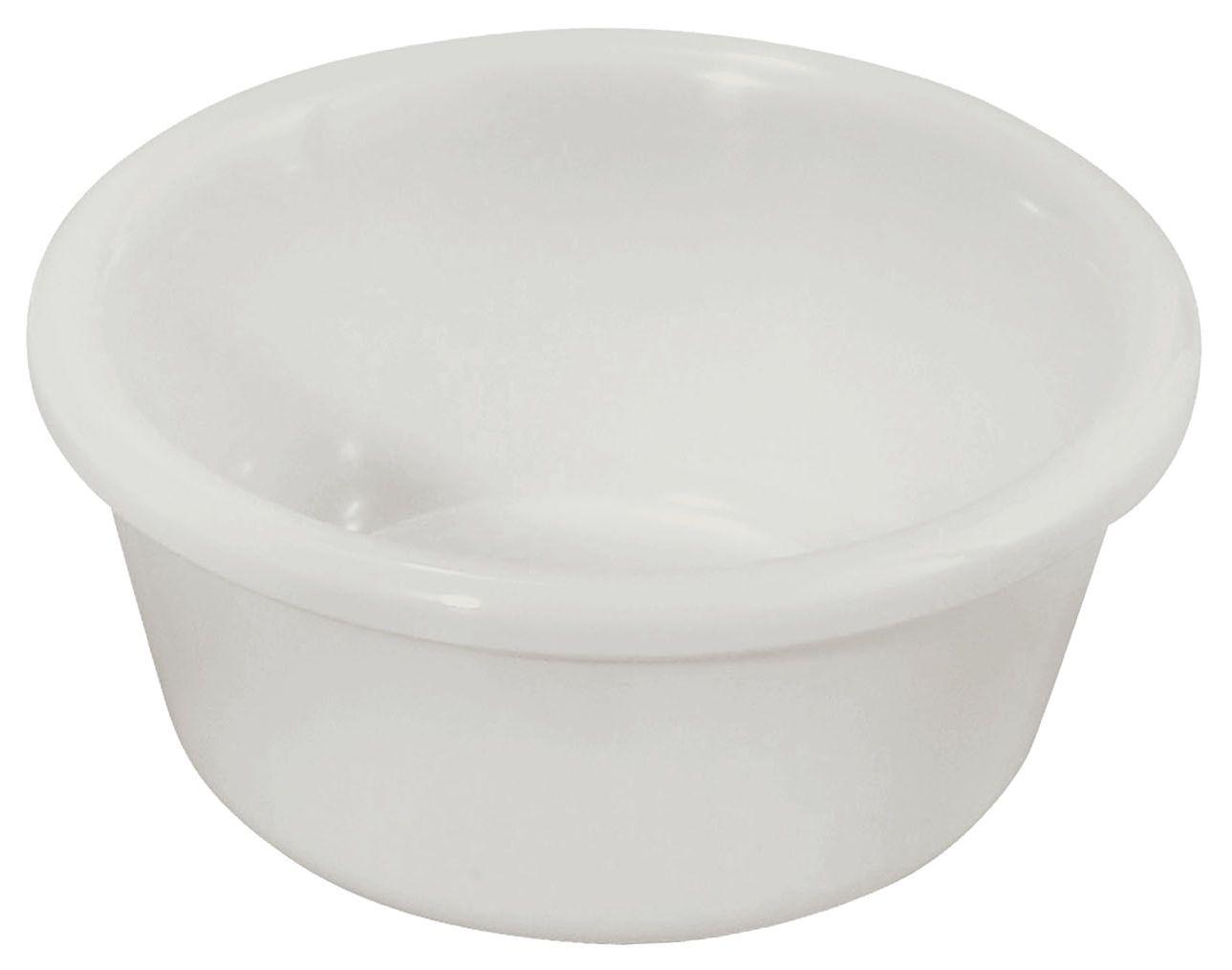 Winco RP-6W 6 oz. Plain White Melamine Ramekin