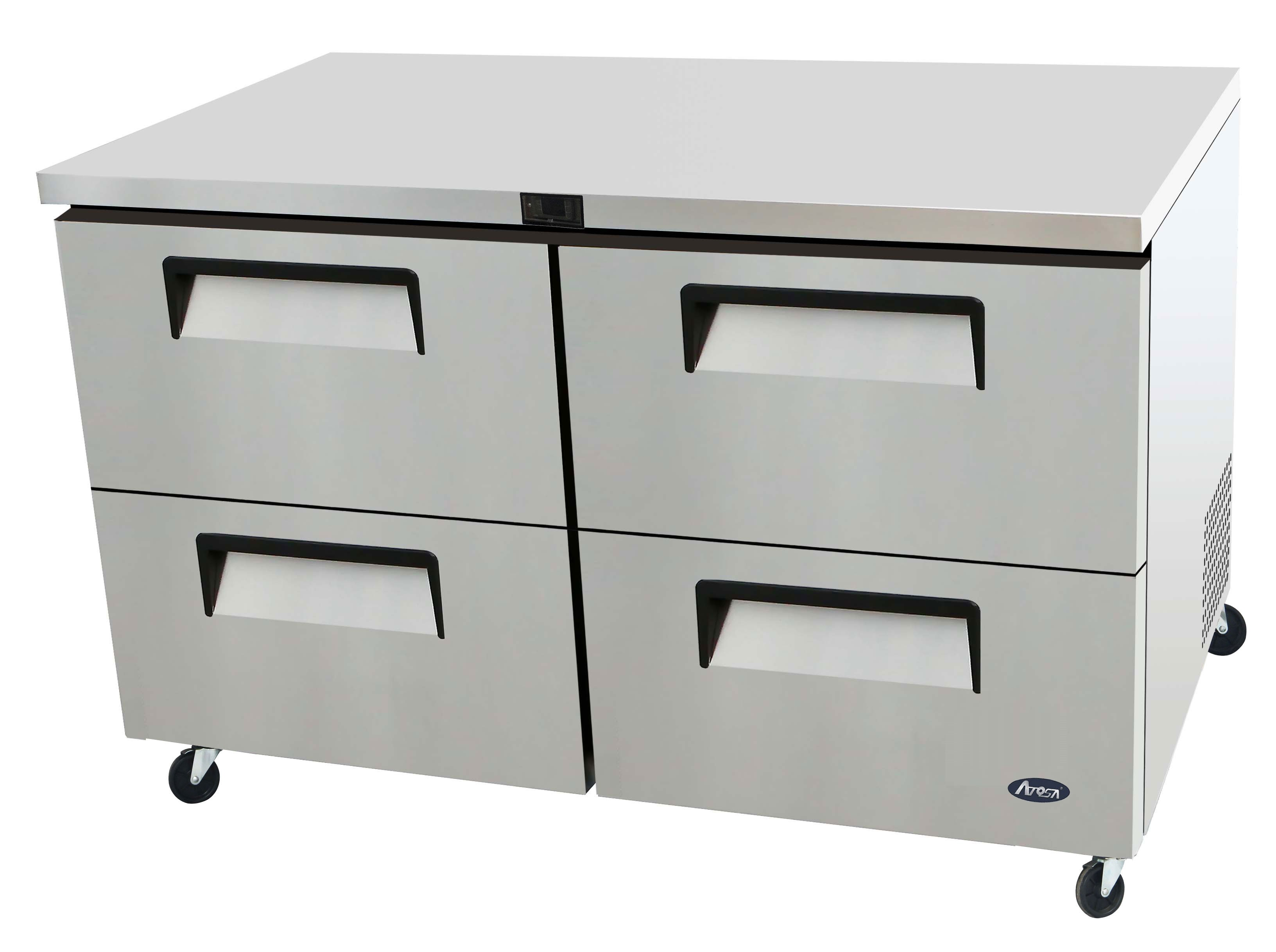 Atosa MGF8419 60'' Four-Drawer Undercounter Refrigerator