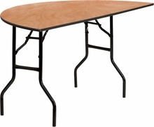 "Flash Furniture YT-WHRFT60-HF-GG 60"" Half-Round Wood Folding Banquet Table"