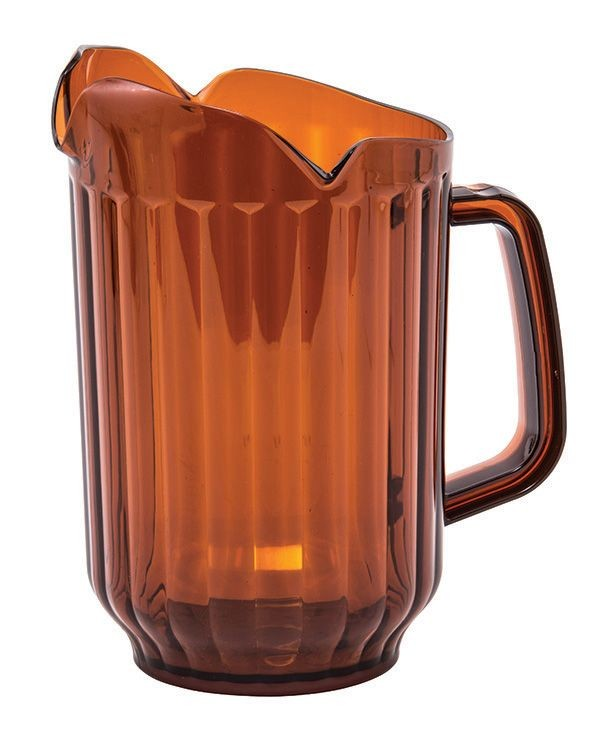 60 Oz. Polycarbonate Pitcher Three Spout Amber