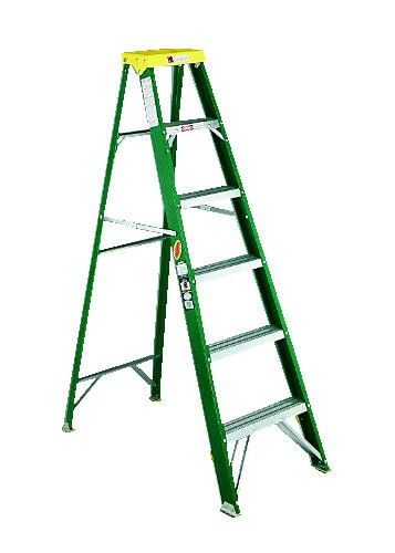 6ft Step Ladder, Fiberglass Rails