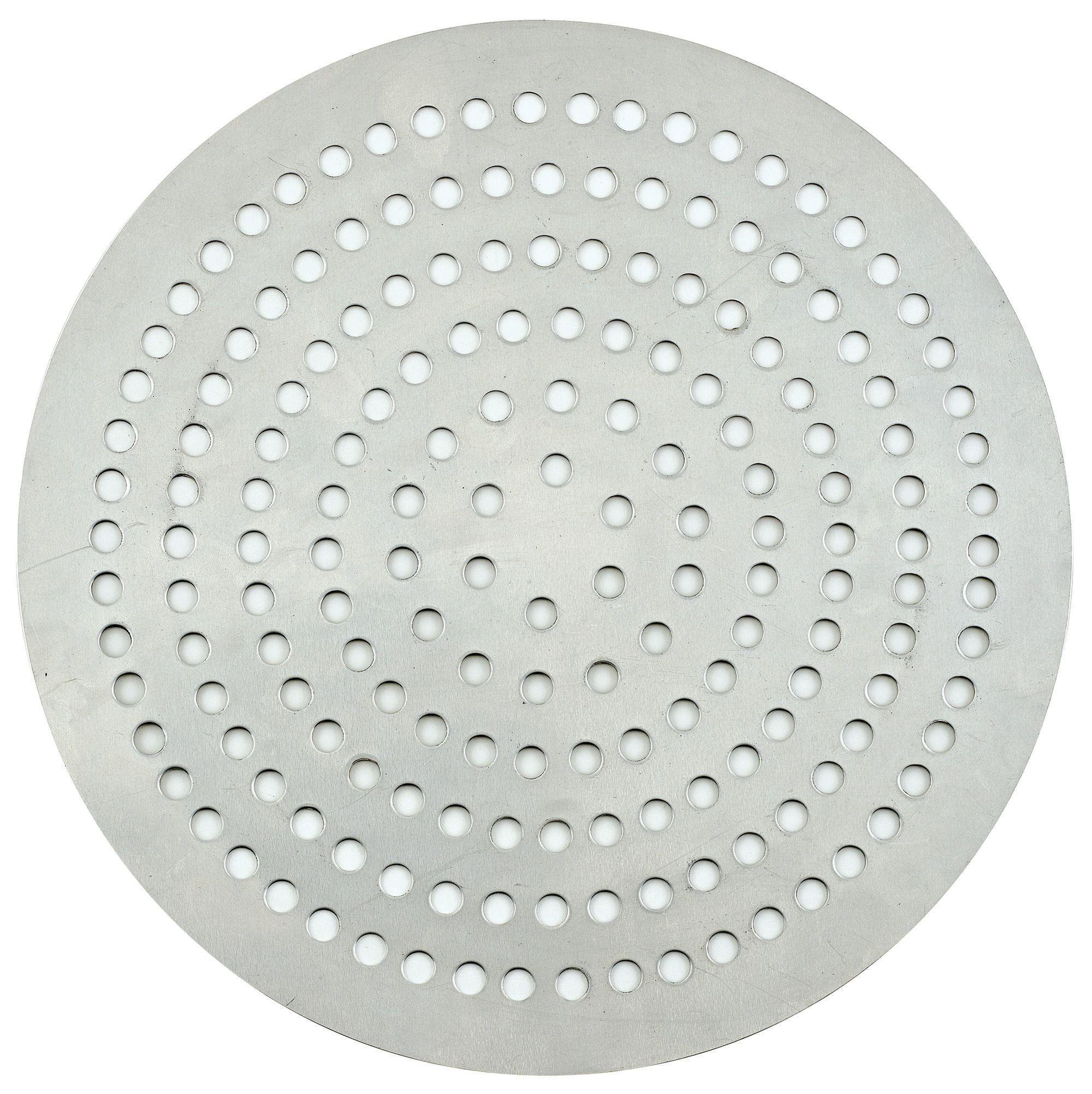 """Winco APZP-7SP 7"""" Aluminum Super-Perforated Pizza Disk"""