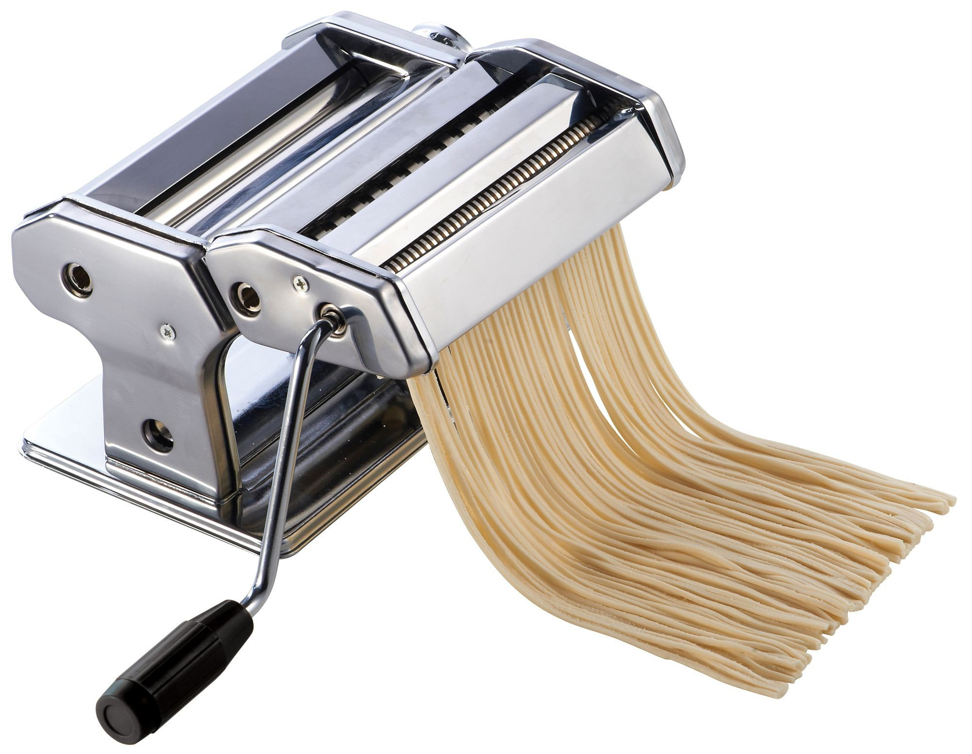 """Winco NPM-7 7"""" Stainless Steel Pasta Maker with Detachable Cutter"""
