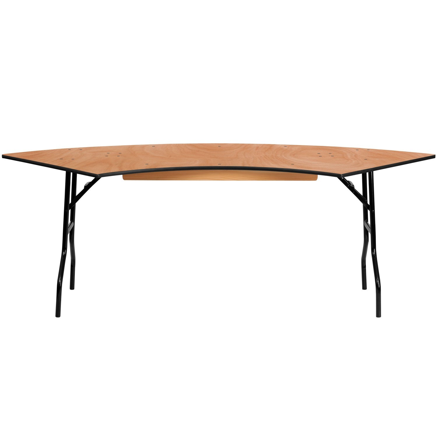 Flash Furniture YT-WSFT60-30-SP-GG 7.25 ft. x 2.5 ft. Serpentine Wood Folding Banquet Table