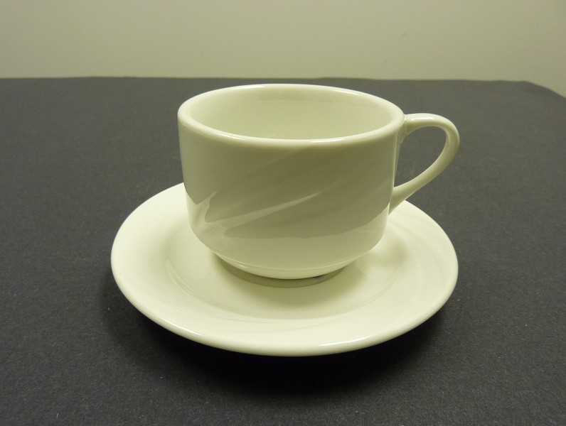 7.5 Oz Cup Miami Embossed Bone China