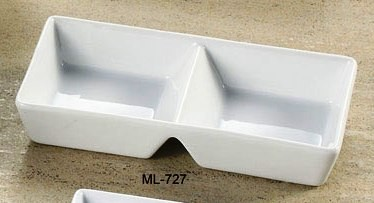 "Yanco ML-727 Mainland 7 7/8"" x 4"" x 1 3/8"" Two Divided Tray"