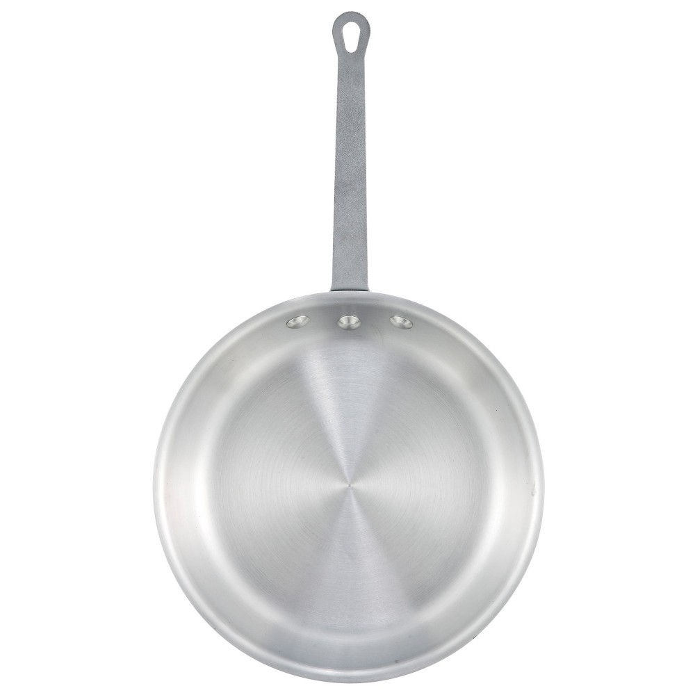 "Winco afp-7a 7"" Gladiator Aluminum Fry Pan with Natural Finish"