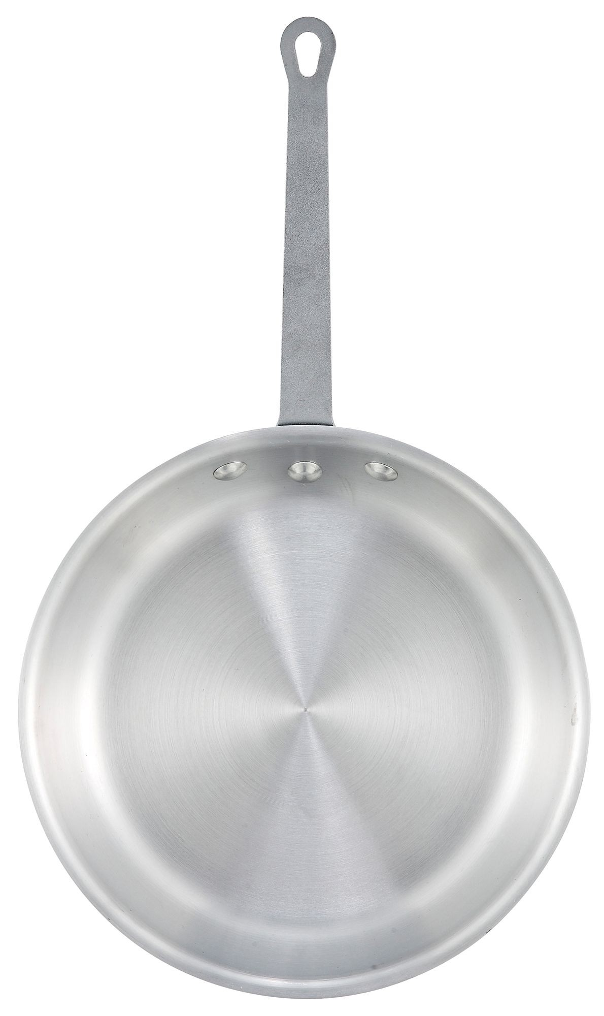 """Winco AFP-7A 7"""" Gladiator Aluminum Fry Pan with Natural Finish"""