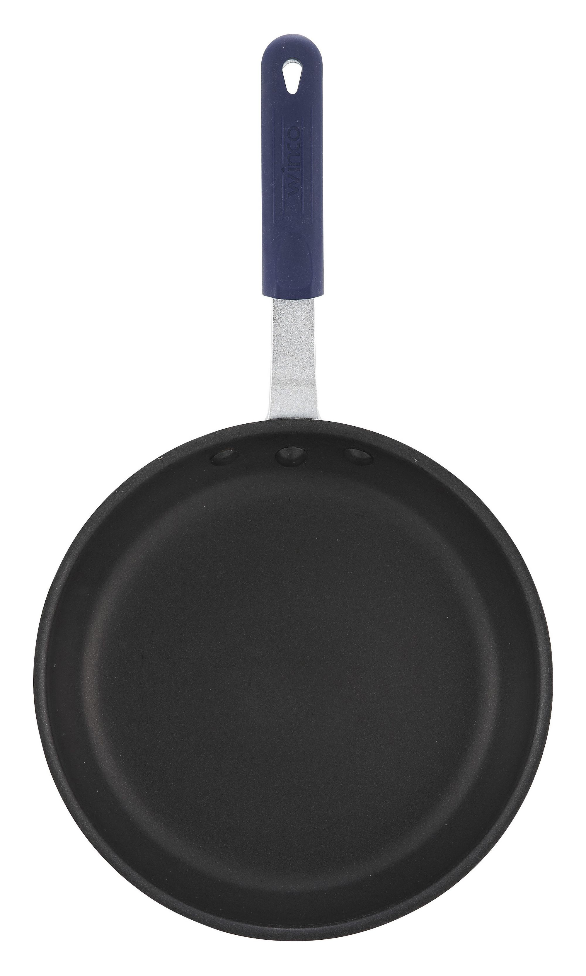 "Winco AFP-7XC-H 7"" Gladiator Aluminum Fry Pan with Excalibur Coating and Silicone Handle"