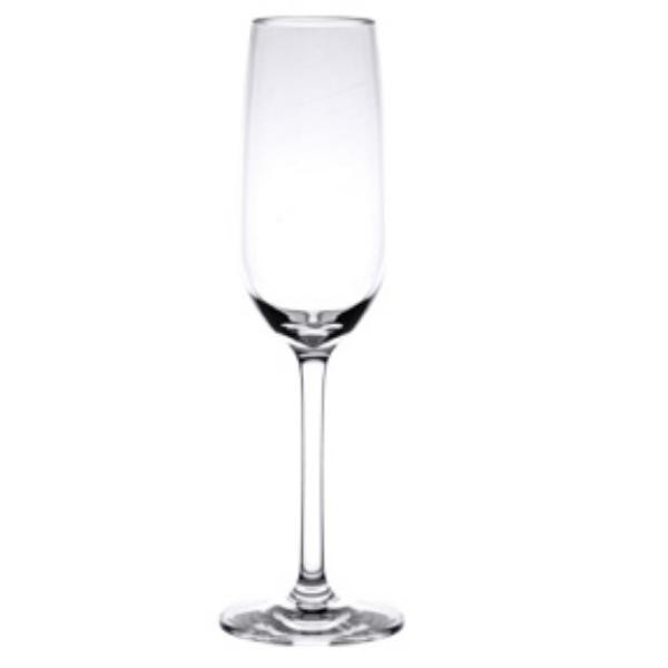 7 Oz Champagne Glass, Polycarbonate, Clear