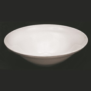 Thunder Group PS6013W Passion White Melamine 70 oz. Square Salad/Serving Bowl 13""
