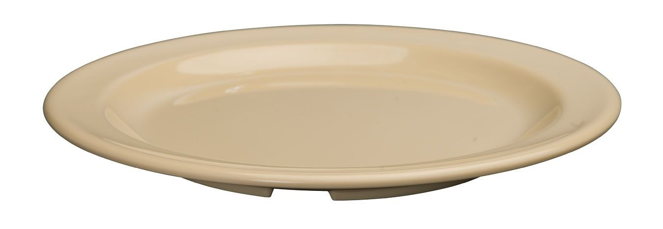 "Winco MMPR-8 Tan Melamine 8"" Round Plate"