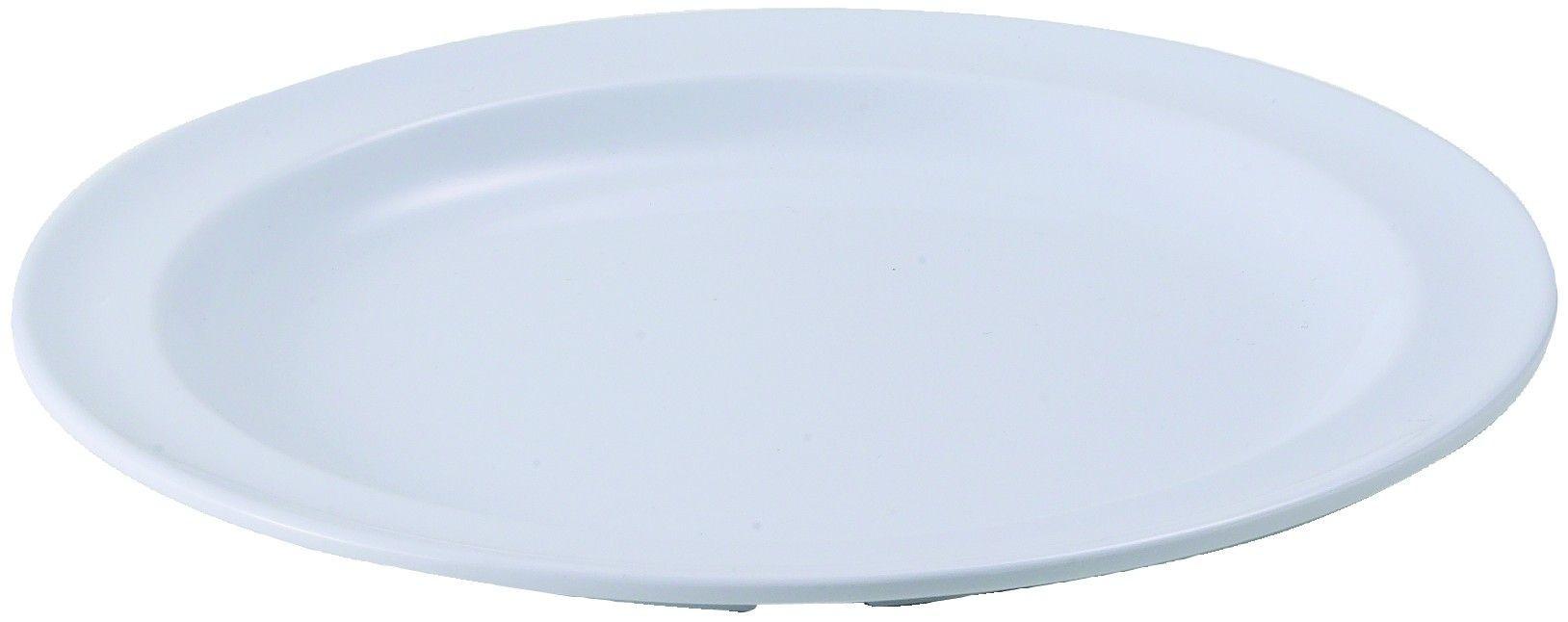 "Winco MMPR-8W White Melamine 8"" Round Plate"