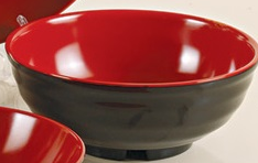 "Two-Tone Japanese 8"" Noodle Bowl 26 oz."