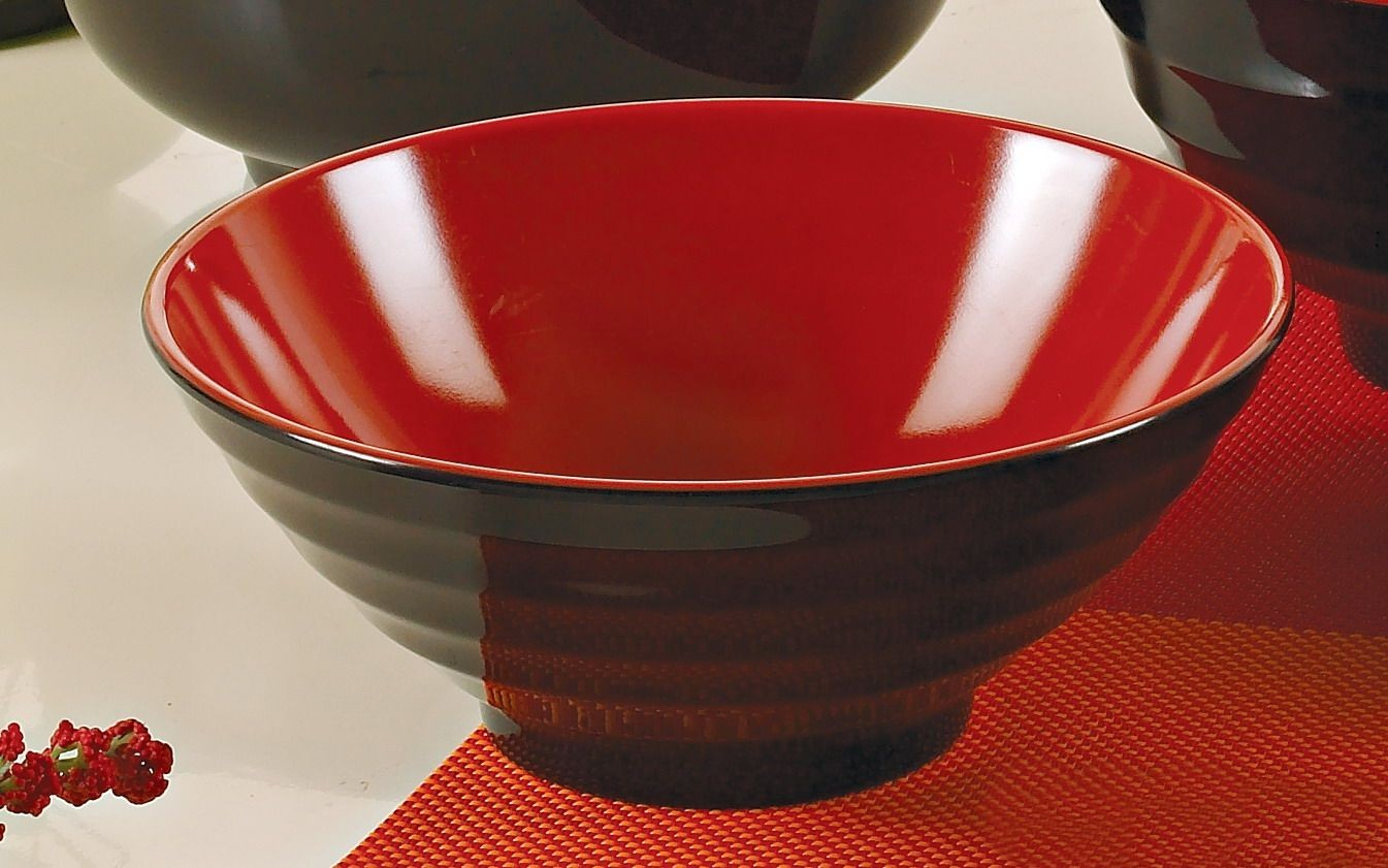 "Two-Tone Japanese 8"" Noodle Bowl 36 oz."