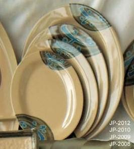 "Yanco jp-2008 Japanese 8"" Oval Plate"