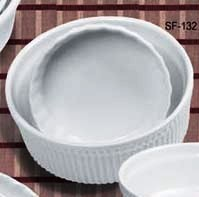 "Yanco SF-164 Accessories 9"" Fluted Souffle Bowl 64 oz."