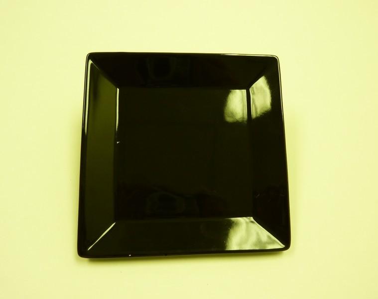 """Yanco CA-108BK Carnival Black 8"""" Square Plate"""