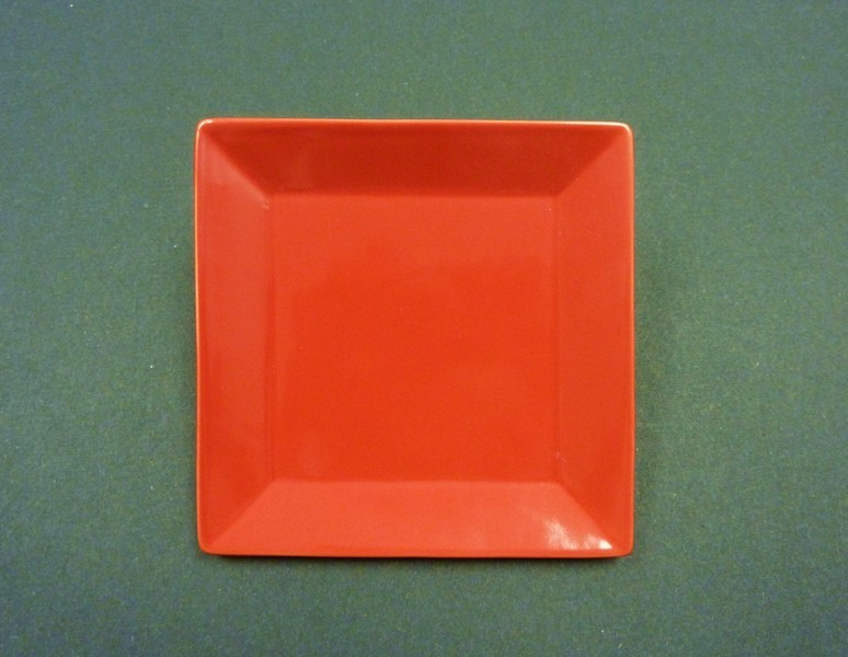 "Yanco CA-108RD Carnival Red 8"" Square Plate"