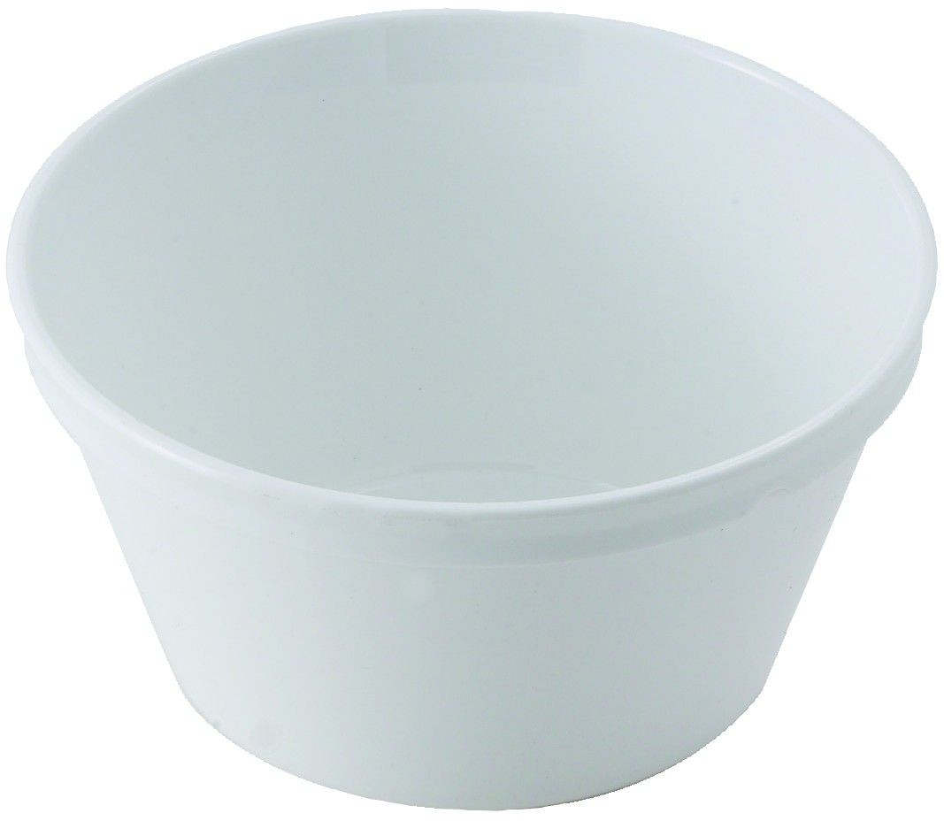 Winco pfd-8w White Polycarbonate  8.4 oz.  Fruit Bowl