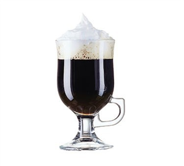 8.5 Oz. Irish Coffee Footed Mug In Tempered Glass