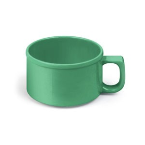 Thunder Group CR9016GR Green Melamine 10 oz. Soup Mug 4""