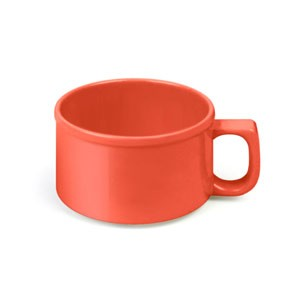 "Thunder Group CR9016RD Orange Melamine 10 oz. Soup Mug 4"""