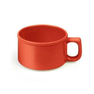 Thunder Group CR9016PR Pure Red Melamine 10 oz. Soup Mug 4""