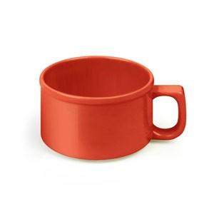 Thunder Group CR9016PR Pure Red Melamine 10 oz. Soup Mug