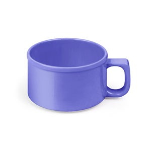 Thunder Group CR9016BU Purple Melamine 10 oz. Soup Mug 4""