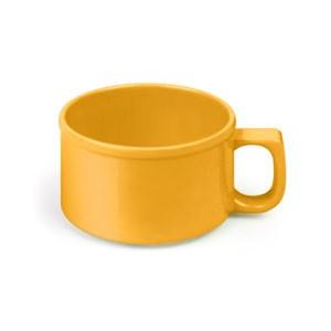 "Thunder Group CR9016YW Yellow Melamine 10 oz. Soup Mug 4"""