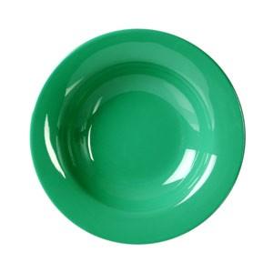 "Thunder Group CR5077GR Green Melamine Wide Rim 8 oz. Salad Bowl 7-3/4"""