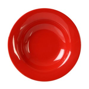 Thunder Group CR5077PR Pure Red Melamine Wide Rim 8 oz. Salad Bowl 7-3/4""