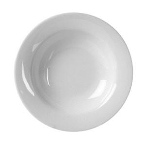 Thunder Group CR5077W White Melamine Wide Rim 8 oz. Salad Bowl