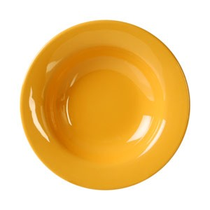 "Thunder Group CR5077YW Yellow Melamine Wide Rim 8 oz. Salad Bowl 7-3/4"""