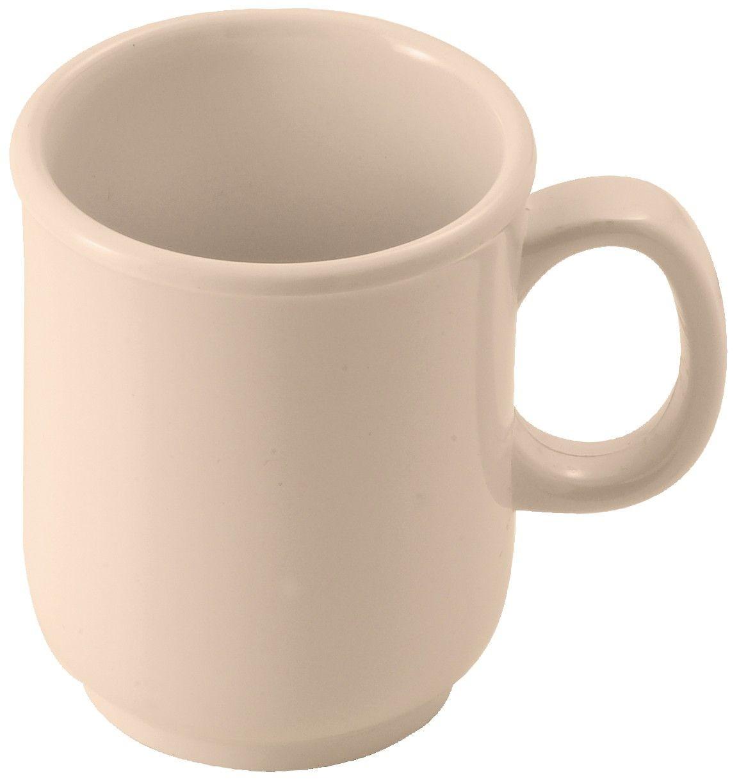 Winco MMU-8 Tan Melamine 8 oz. Bulbous Mug