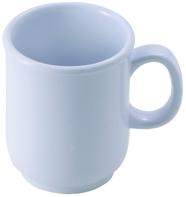 Winco MMU-8W White Melamine 8 oz. Bulbous Mug