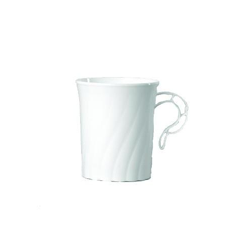 8 Oz Classicware White Plastic Coffee Mug