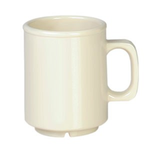 Thunder Group CR9010V Ivory Melamine Mug 8 oz.