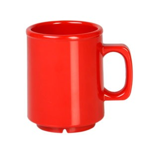 Thunder Group CR9010PR Pure Red Melamine Mug 8 oz.