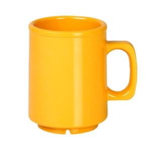 Thunder Group CR9010YW Yellow Melamine Mug 8 oz.