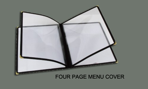 8 Page Menu Cover (4 Double-Sided Pages) - Holds 8.5