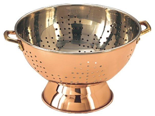 Old Dutch International 769 Decor Copper Footed Colander/Centerpiece 9""
