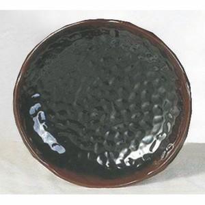 Tenmoku Melamine Lotus Shape Plate, 9-3/8