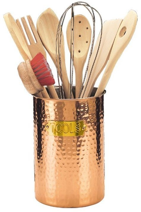 Old Dutch International 849 Decor Copper Hammered 9-Piece Tool Set
