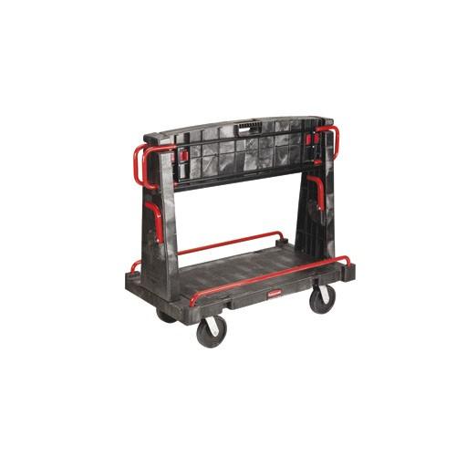 A-Frame Truck, 2000-lb Cap., 2 Shelves, 27 1/4w x 50 1/4d x 49 1/2h, Black