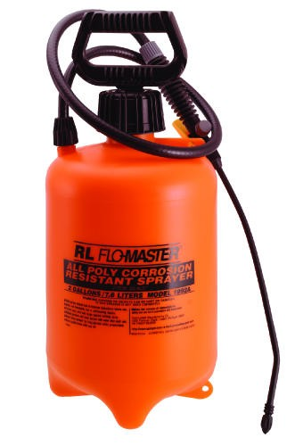 Acid-Resistant Sprayer, 2 Gallon, Polyethylene, Translucent Orange