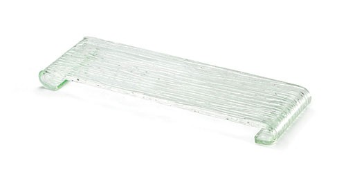"Acrylic Rectangle Riser with Curved Legs, 14-1/2"" x 5"" x 1"""